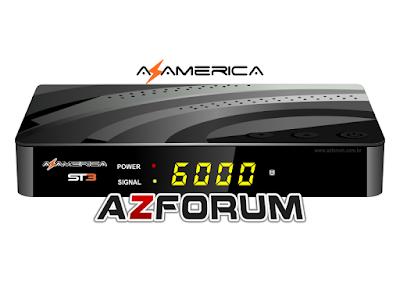 Atualização Azamerica ST3 V1.09.20630 - 20/06/2019