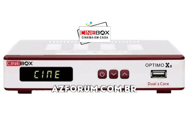 Atualização Cinebox Optimo X2 - 26/06/2020